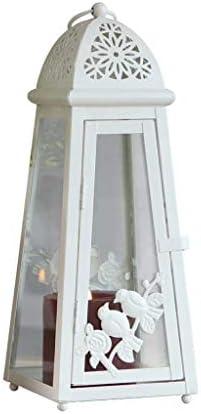 クリエイティブ錬鉄の燭台装飾ポータブル屋外灯台結婚誕生日ギフトキャンドルホワイト鳥の形の灯台デスクトップコートヤード装飾