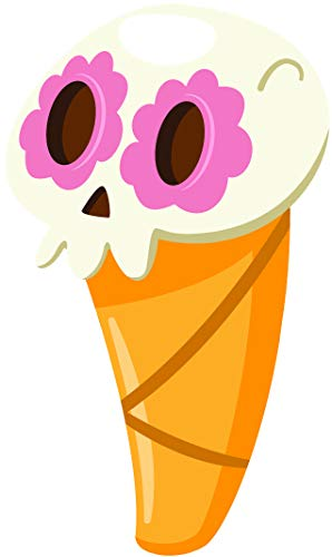Cute Mexican Food Halloween Dia de Los Muertos Emoji Cartoon Vinyl Sticker (4