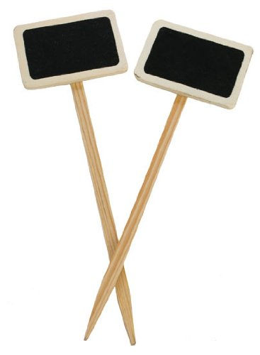 Mini-Wood-Chalkboard-Stakes-for-Wedding-and-Party-Table-Markers-44-Chalkboard-Stakes-22-Pkgs-of-2-Chalkboards-Size-2-34-wide-x-8-12-tall