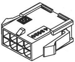 (Lot of 9 538-43020-0800 Molex 43020-0800 Wire Housings Plug PNL MNT 8P Dual Row)