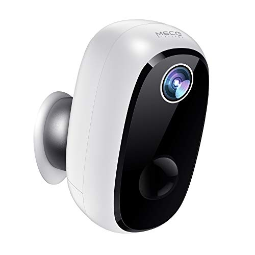 Wireless Battery Powered Camera, MECO 1080P Rechargeable Home Security System, Night Vision, Indoor/Outdoor WiFi Camera with Motion Detection, 2-Way Audio Talk, IP65 Waterproof, 2.4GHz WiFi
