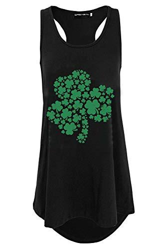 DREAGAL Women Racerback St. Patrick's Day Irish Paddy Tank Top Kelly Green -
