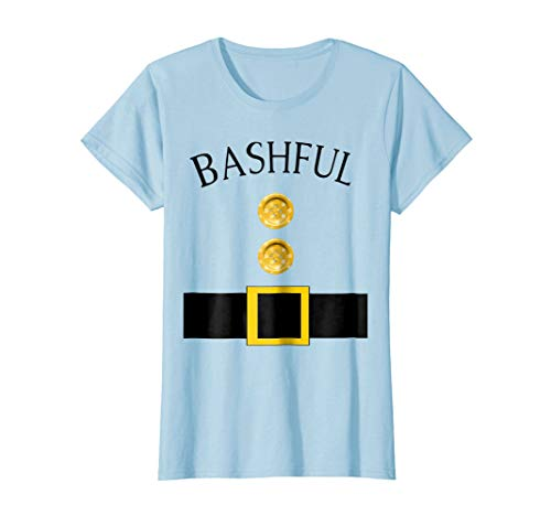 Womens Cute Bashful Halloween Group Costume T Shirt