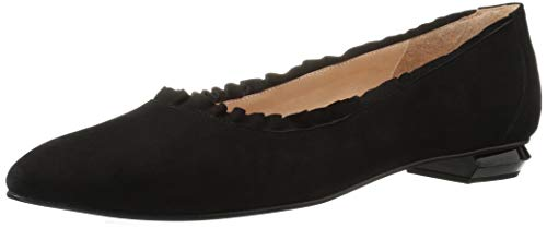 French Sole FS/NY Women's Zounds Ballet Flat, Black, 8 M US (French Flats Sole Suede)