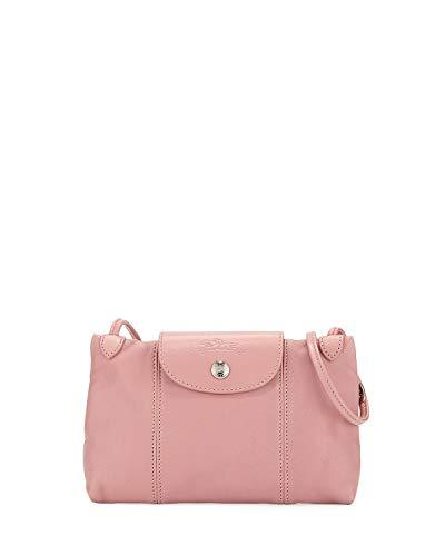 Longchamp Women's Leather Le Pliage Cuir Crossbody Bag Blush