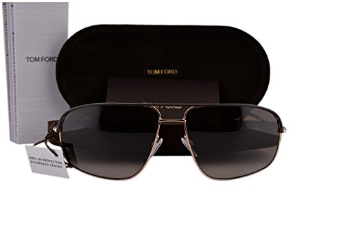 Tom Ford FT0467 Justin Sunglasses Dark Brown w/Polarized Brown Lens 50H - Alicia Sunglasses Tom Ford