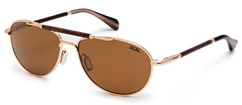 Sunglasses - Polished Gold Frame with Copper Lens ()