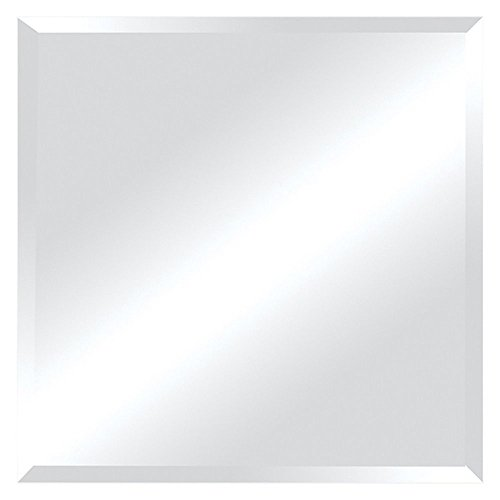 Ren-Wil Frameless Beveled Square Wall Mirror - 30W x 30H in.