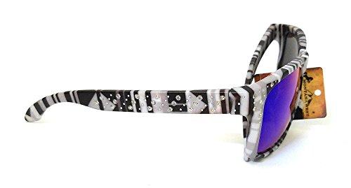 Montana West JP Bling Rhinestone Aztec Chevron Womens Girls Sunglasses Black (Black White Aztec, Multi - Jp Sunglasses