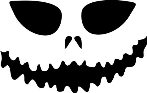 Scary Face Pumpkin Carving Stencil - 8 inch (at Longest Point) - 10 mil Medium-Duty]()