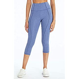 Marika Ollie High Rise Capri Legging, Heather Sodalite Blue, X-Large