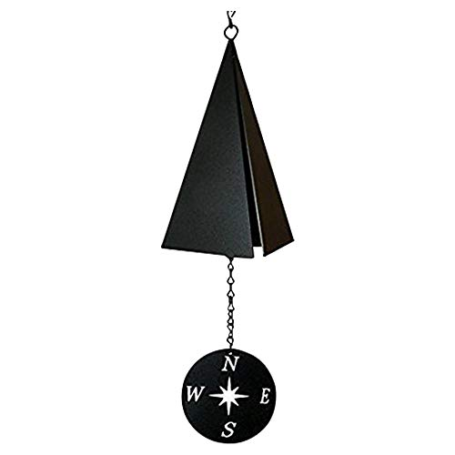 North Country Boothbay Harbor 3-Tone Wind Bell Chimes with Compass Rose - Unique Outdoor Wind Chime Catcher - Door Porch Garden Decorations Lawn Ornaments
