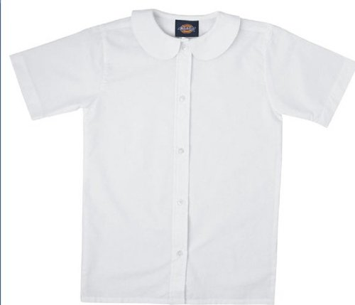 bed1b1954201d7 Image Unavailable. Image not available for. Color: Girls Short Sleeve Peter  Pan Collar Shirt School Uniform