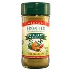 Frontier Poultry Seasoning Salt-Free Blend 1.34 OZ (Pack of 9)