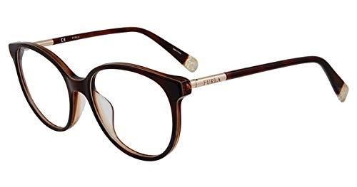 Eyeglasses Furla VFU 249 Brown 0G14