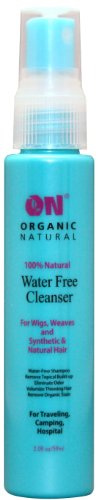 Wig Cleanser - On Organic Natural Water Free Cleanser for Wigs and Weaves - Synthetic & Natural Hair 8 oz.