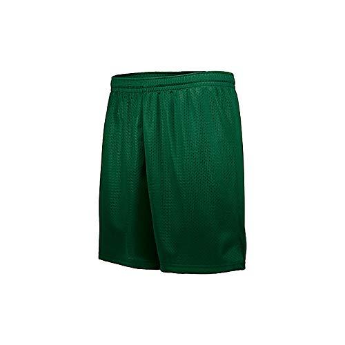 Augusta Sportswear Youth Tricot MESH Short, Dark Green, Small
