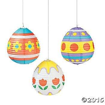 Paper Easter Egg Lanterns - Set Of 3 ()