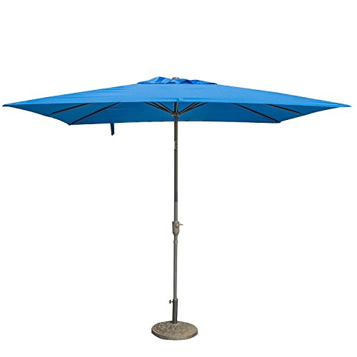 Cheap CASUN GARDEN 7×9 ft Patio Rectangular Market Umbrella Crank Tilt, Blue
