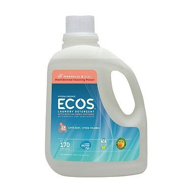 Earth Friendly 2X Ultra Ecos Magnolia and Lilies Laundry Detergent Liquid, 170 Fluid Ounce - 2 per ()