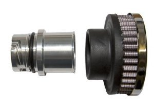 Textured Black CFM Performance 1-0201-0-WB Billet Baffled Valve Cover Breather Oil Cap LSx LS1 LS2 LS3 LS6 LS7
