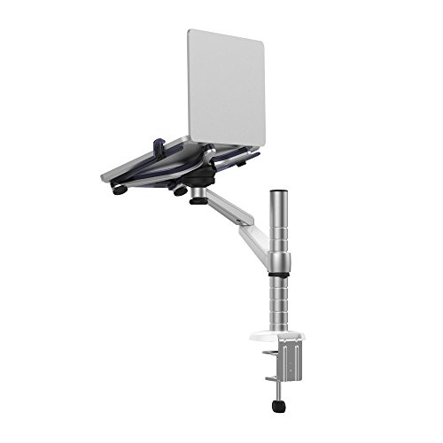 Mingo Labs OA-1S Single Laptop or Tablet Fully Adjustable Desk Top Mount with Desk Clamp, Silver by Mingo Labs