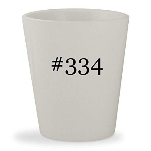 #334 - White Hashtag Ceramic 1.5oz Shot Glass
