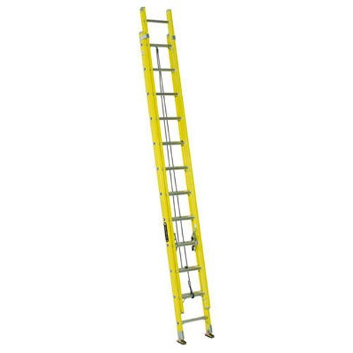 Louisville Ladder FE1724 Fiberglass Extension Ladder, Type I, 24 Feet, 250 Pound Duty Rating (24' Residential Ladder)