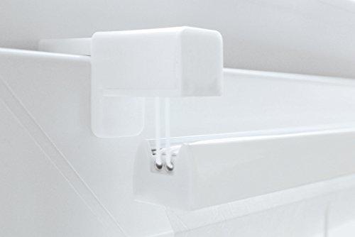 Plissee weiss verspannt - Breite 50 bis 120 cm - Höhe 150 cm - inkl. Klemmträger ohne Bohren Faltrollo Rollo (80 x 150 cm)