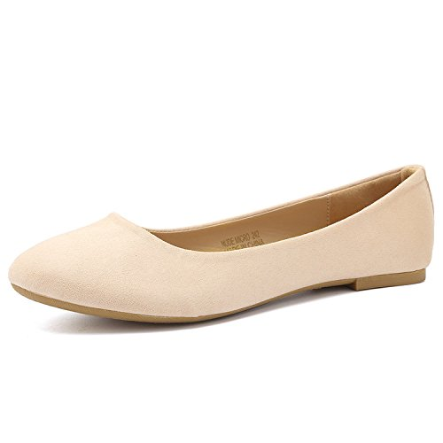 CIOR Women Ballet Flats Classy Simple Casual Slip-on Comfort Walking Shoes from ()