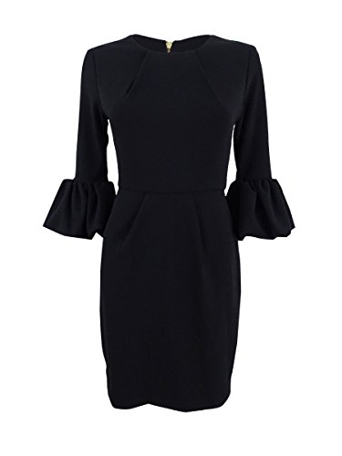 Dress Betsy Black Petite 2P Women's Sheath amp; Bell Sleeve Adam rw0rqO
