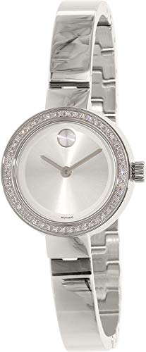 - Movado Bold Women's Steel Bracelet & Case Quartz Silver-Tone Dial Analog Watch 3600321