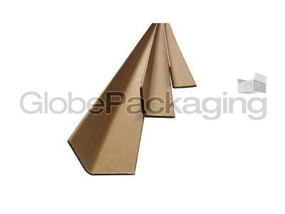 100 x 1.2M Long Cardboard EDGE Guard Pallet Protectors 35mm L Profile Globe Packaging