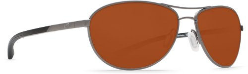 Costa Del Mar KC Women's Polarized Sunglasses, Gunmetal/Copper Glass - W580, - Kc Costa Sunglasses