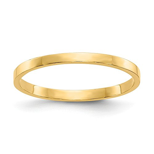 14k Yellow Gold Wedding Ring Band Childs Size 3.00 Baby Fine Jewelry Gifts For Women For Her