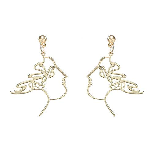 Palm Leaf Earrings Abstract...