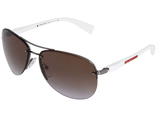 Prada Linea Rossa Men's PS 56MS Sunglasses Gunmetal/Brown Gradient ()