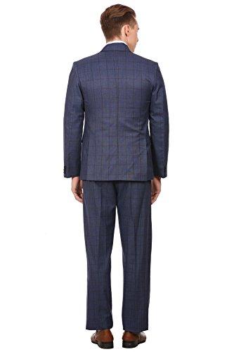 Wintage Hommes PV Merino Laine mélangés crantée Lapel Bleu 3-Pc Suit