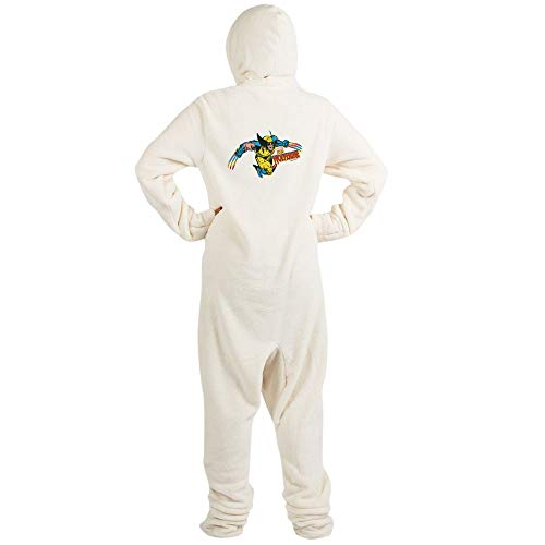 CafePress Wolverine Attack Novelty Footed Pajamas, Funny Adult