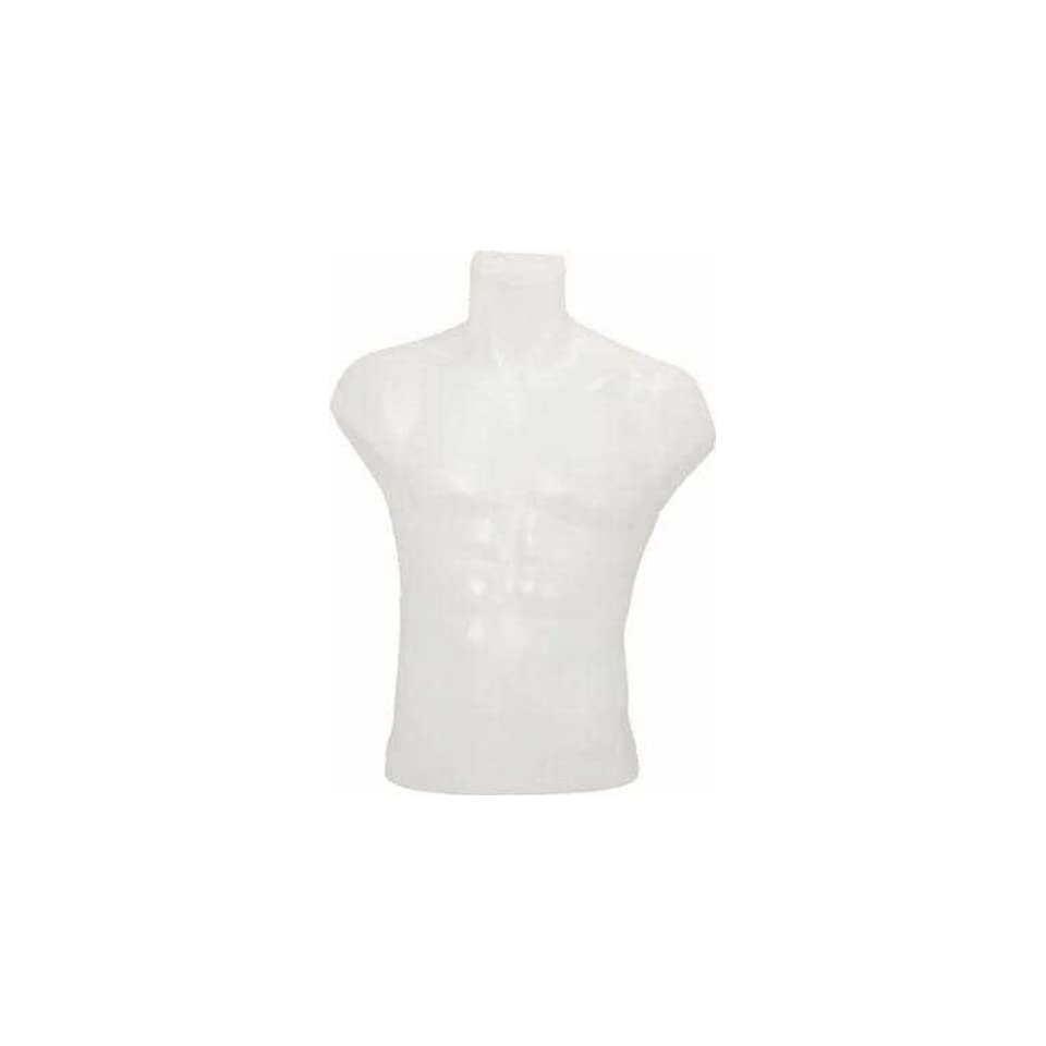 Male 1/2 Torso Table Top Mannequin Display Form Torso