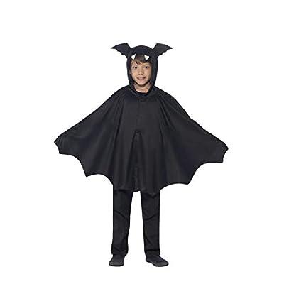 Smiffy's capa de Murciélago para niños de 4 a 9 años, colo negro, Talla L (44324ML): Smiffys: Juguetes y juegos