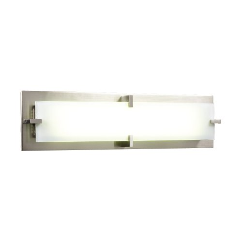 PLC Lighting 814 SN 2 Light Vanity, Polipo-T5 Collection, Satin Nickel Finish