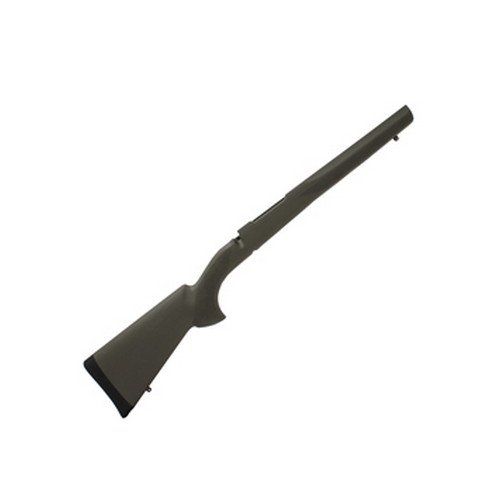 Hogue 98202 Rubber OverMolded Stock for Mauser 98, Military/Sporter, Olive Drab, Aluminum Bedding Block