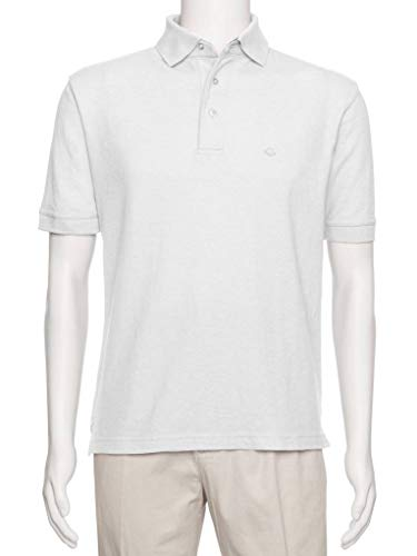 Aka White T-shirt - AKA Men's Solid Polo Shirt Classic Fit - Pique Chambray Collar Comfortable Quality White Large