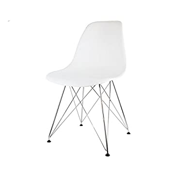 Inconnu Chaise Blanche Pied Chrome
