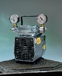 Gast DOA-P704-AA Diaphragm Vacuum/Pressure Pump, Plastic, 115V, 60 Hz, 7-3/5'' Width x 10-1/10'' Height x 6-1/2'' Depth by Gast