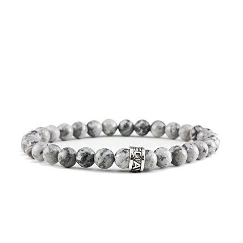 c3ff0790467 Lovely Davis pulsera Mini Jasper Pendientes de perlas de piedras preciosas  de plata anillo de los