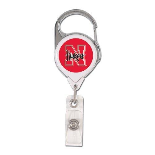 WinCraft NCAA Nebraska Cornhuskers Retractable Premium Badge Holder, Team Color, One Size ()