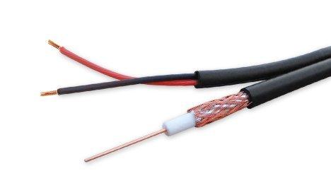 RG59 + alimentación, 300 m, cable coaxial 75 Ohm Impedancia Multi negro madera tambor de cable de BNC de vigilancia, HD capacidad: Amazon.es: Bricolaje y ...