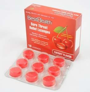 (Shield Safety - Cherry Throat Lozenge - 18 ct)